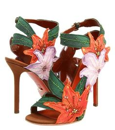 shoes, embellish shoe, fashion, style, heel, sergio rossi, flower power, sandal, rossi a41550