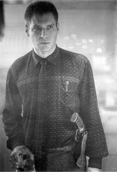Harrison Ford as Deckard. Blade Runner a film by Ridley Scott, 1982. Photo by Ridley Scott.