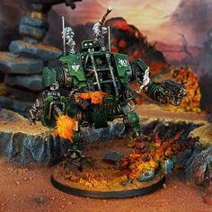 Dark Angels, Warhammer 40000, Dieselpunk, Steampunk, Geek Stuff, Miniatures, Models, Awesome, Crafts