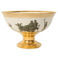 A Sevres White and Gilt Bowl with Classical Figures 1803