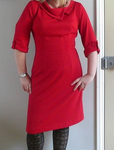 Double knit dress  (has links to tips on sewing double knits from @gretchen hirsch)