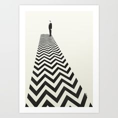 Twin Peaks Minimalist Poster Art Print by Kristjan Lyngmo. Worldwide shipping available at Society6.com. Just one of millions of high quality products available.