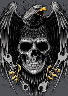Lincoln Design Co. is a brand design and creative agency located in Portland, Oregon. Eagle Pictures, Skull Pictures, Eagle Wallpaper, Skull Wallpaper, Harley Davidson Tattoos, Harley Davidson Logo, Biker Tattoos, Skull Tattoos, Airbrush Art