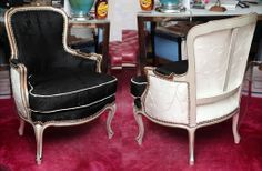 Beautiful Pair of Louis XV Bergeres Style | From a unique collection of antique and modern bergere chairs at http://www.1stdibs.com/furniture/seating/bergere-chairs/