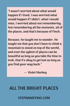 All The Bright Places Quotes, He Makes Me Happy, Dont Love Me, Book Works, Favorite Book Quotes, Literature Quotes, Best Travel Quotes, Film Quotes, Book Fandoms