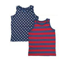 Frugi Φανελάκια για Αγοράκια Σετ των 2 Τεμαχίων – Αστέρια - Sunnyside Underwear, Vest, Stars, Tank Tops, Women, Fashion, Moda, Halter Tops, Fashion Styles