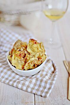 Chips de alcachofa en tempura ....Receta con truco.