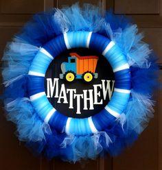 Kids Tutu Wreath Custom Name Childs Room Baby by WeHaveWreaths, www.facebook.com/CraftCreationsbyJen   www.etsy.com/shop/WeHaveWreaths