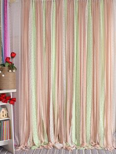 Pink White Sparkle Sequin Photobooth Wedding Baby Shower Party Backdrop Curtain