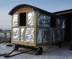 The process of the making a Shepherds Hut.