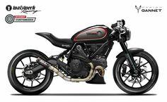 Ducati Scrambler by Gannet Design Ducati Scrambler Custom, Cafe Racer Motorcycle, Motorcycle Design, Custom Motorcycles, Custom Bikes, Varadero, Sidecar, Bobber, Toyota