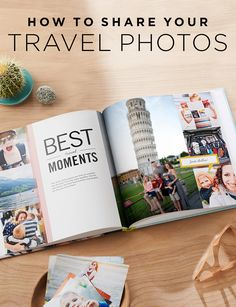 Capture all your travel photos in a personalized photo book of your vacation. Fr… Capture all your travel photos in a personalized photo book of your vacation. From monuments to your favorite roadtrip, remember it all. Blurb Photo Book, Shutterfly Photo Book, Make A Photo Book, Photo Books, Travel Photo Album, Travel Photos, Travel Ideas, Travel Inspiration, Travel Logo
