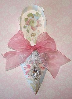 Elegant Marie Antoinette Paper Shoe (other view) by Kris Dickinson, Nostalgic Collage'