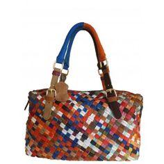 Women's Multi-Colored Lambskin Tote Bag  Free Shipping  Fabhere.com.au