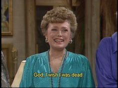 Blanche. One of my favorite golden girls because i just can not pick a favorite