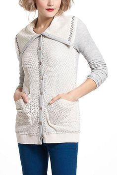 sagittate cardigan, via anthroplogie.  perfect length for long torso, and wide collar is great for narrow shoulders.
