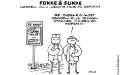 Fokke & Sukke hadden hun nieuwe huis al gekocht..