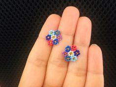 Beaded earrings 288511919881387035 - Cluster Flower Post or Stud Earrings Beaded Earrings Native, Beaded Earrings Patterns, Seed Bead Earrings, Bracelet Patterns, Stud Earrings, Cluster Earrings, Black Earrings, Flower Earrings, Seed Beads
