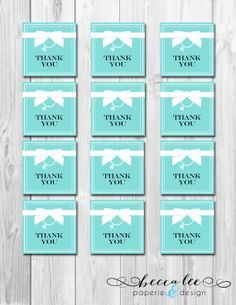 e7f5d7b19b INSTANT DOWNLOAD - Bride & Co Favor Tags - Tiffany Inspired Bridal  Shower - DIY