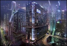 futuristic mega city - Google Search