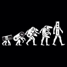 I found this photo very comical because it is based off of evolution of the human, but they use the pun of technology and how video games have evolved and how the controllers have changed for the gaming systems.
