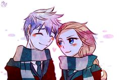 jelsa: jack frost: elsa: Slytherin Couple by Lime-Hael.deviantart.com on @deviantART