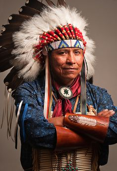 A photo of Chief Reynard Faber of the Jicarilla Apache Nation. He is also the great-grandson of Apache Chief Geronimo.