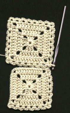 "How to connect crocheted ""granny squares""."