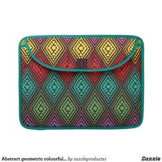 Abstract geometric colourful diamond pattern sleeves for MacBook pro