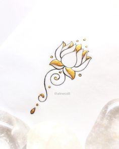 Tattoo | Ink | Feminine | Floral | Buddhism