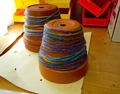 Make Your Own Textured Pot: Create a pretty and tactile pot for your garden and plants with just a few easy techniques and simple craft materials - this is the prefect art project for blind children! And since your hands will get sticky making this craft project, it's also a fun sensory activity! *pinned by wonderbaby.org