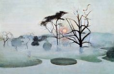Victor Pasmore Chiswick Park in Frost