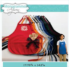 QTY of 1 - Personalized apron for the bride, groom, mom dad and bridal party. A fun gift for everyone. Weve included a center chest monogram of your