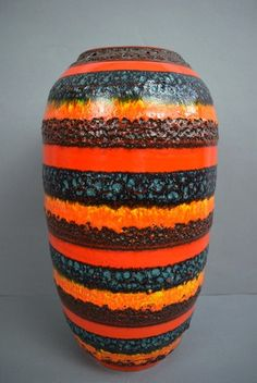 Vintage floor vase / Scheurich / 546 41 / Fat by ShabbRockRepublic
