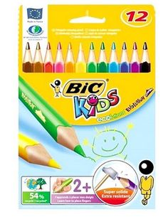 Bic Kids Evolution Triangle Colouring Color Pencils Pack Of 12