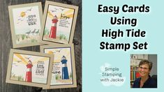 Today I am sharing simple cards for men that make stamping so easy. I've got 4 different cards and lots of rubber stamping tips. Come join me and learn! Card Making Tutorials, Card Making Techniques, Video Tutorials, High Tide Stampin Up, Stamping Up, Rubber Stamping, Nautical Cards, Coffee Cards, Easy Youtube
