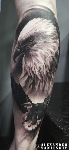 #Eagle #tattoo by #Alexander #Yanitskiy #Kipod #Kipodtattoo