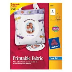 Avery Printable Fabric for Inkjet Printers, 8.5 x 11 Inches, Pack of 5 on Amazon today for only $15.16 ON SALE & eligible for FREE Super Saver Shipping  find more items like this at http://www.ddsgiftshop.com/arts-crafts-and-sewing check out our facebook page here https://www.facebook.com/AmazonDealsArtsCraftsAndSewing