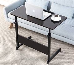 """Go Anywhere Desktop This desk rolls, raises, and lowers, making this """"go anywhere"""" desk the most convenient thing to happen to your small bedroom-turned workspace.   Buy it now: $48.20"""