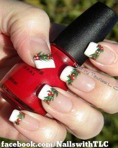 Holly Garland by NailswithTLC - Nail Art Gallery nailartgallery.nailsmag.com by Nails Magazine www.nailsmag.com #nailart