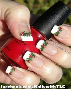 Holly Garland by NailswithTLC - Nail Art Gallery nailartgallery.nailsmag.com by Nails Magazine www.nailsmag.com #nailart