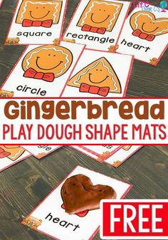 Gingerbread play dough mats for shapes! A great play dough activity for your Christmas theme. Kids love creating the shapes with play dough to match the shapes on the mats. Gingerbread Man Activities, Gingerbread Crafts, Christmas Activities For Kids, Gingerbread Men, Gingerbread Man Kindergarten, Christmas Plays For Kids, Winter Activities, Christmas Crafts, Preschool Crafts