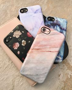 All in  Dark Rose + Northern Lights + Geode + Smoked Coral Case for iPhone 7 & iPhone 7 Plus from Elemental Cases #iphone7case, #iphone7plus,