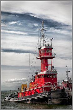 Red Tugboat - Port Jefferson Harbor, New York