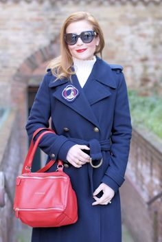 Navy style fashion outfit with Tommy Hilfilger tommyxgigi coat