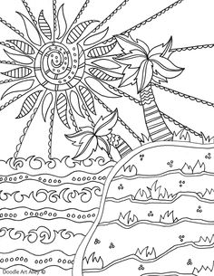 Summertime Beach 3 Fun Coloring PagesColoring SheetsColoring