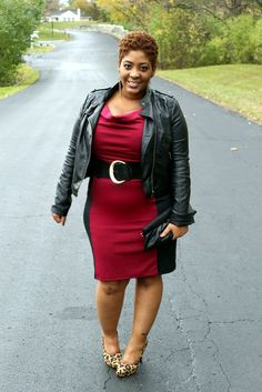 @Style Chic 360 in Oxblood, Leather and Animal Print- great fall ensemble!