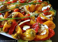 Mia's Domain: Roasted Sweet Pepper Cheddar Cheese Salad