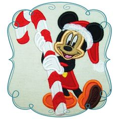 """Mike Candy Cane Size : 5.01"""" x 5.85"""" Stitches: 20729 This if for the 5x7 HOOP  The following formats are available: DST, EXP, HUS, JEF, PES, VIP, SEW and XXX. Price: $3.00"""