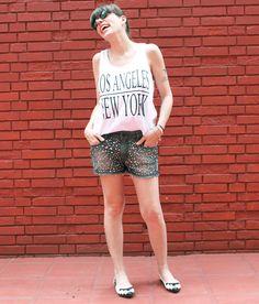 juliana ali te quiero short com pedras look2 - Juliana e a Moda | Dicas de moda e beleza por Juliana Ali